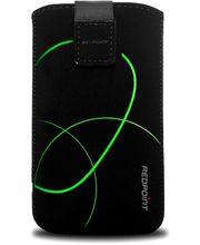 Fixed pouzdro Velvet s motivem Stripe Green, velikost XL, černá