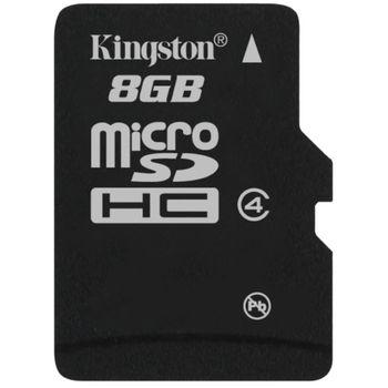 Kingston microSDHC 8GB Class 4 Single Pack paměťová karta