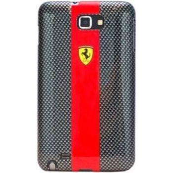 Ferrari Carbon zadní kryt Galaxy Note, černo-červený