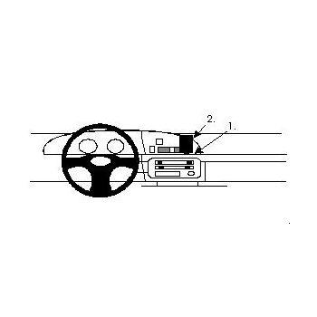 Brodit ProClip montážní konzole pro Mazda 626 88-91/626 Avant/Break 88-97/Van 88-97, na střed