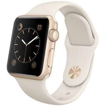 Apple Watch Sport 38mm, zlaté, bílý pásek