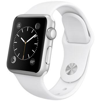 Apple Watch Sport 38mm, stříbrné, bílý pásek, rozbaleno, UK nabíječka