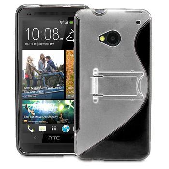 Pouzdro plastové se stojánkem Brando pro HTC One, černé