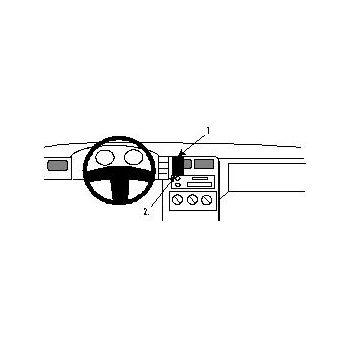 Brodit ProClip montážní konzole pro Seat Cordoba, Ibiza, Inca; Volkswagen Caddy, Polo 93-05, střed