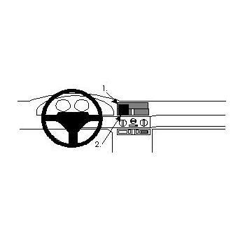 Brodit ProClip montážní konzole pro Alfa Romeo 145 94-97, na střed
