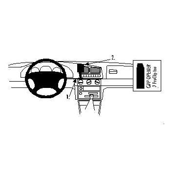 Brodit ProClip montážní konzole pro Škoda Felicia 95-01/Pickup 96-00, na střed