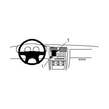 Brodit ProClip montážní konzole pro Nissan Almera 96-99, na střed vlevo