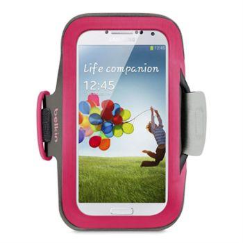 Belkin sportovní pouzdro SlimFit pro Samsung Galaxy S 4, růžové