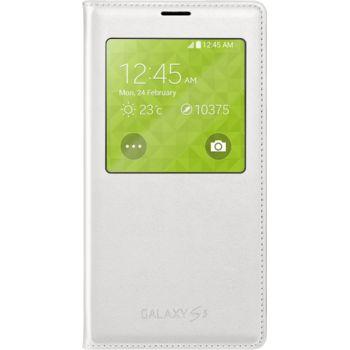 Samsung flipové pouzdro S View EF-CG900BW pro S5 (G900), bílé