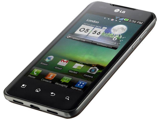 obsah balení LG Optimus 2X black + držák Brodit Molex