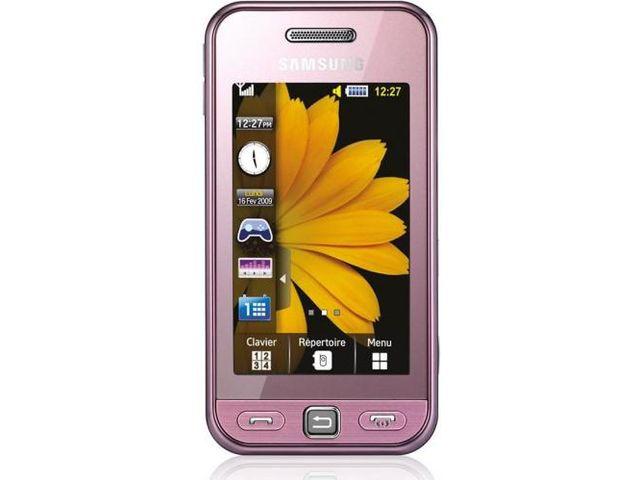 obsah balení Samsung S5230 Star Pink + pouzdro Krusell Gaia černé