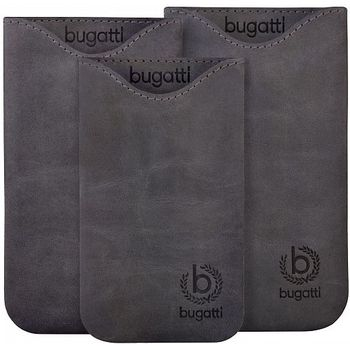 Bugatti Skinny Universal leather case SL (133 x 77mm) - šedivé