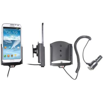 Brodit držák do auta na Samsung Galaxy Note II bez pouzdra, s nabíjením z cig. zapalovače