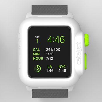 Catalyst vodotěsné pouzdro pro Apple Watch 42mm, bílo-zelené