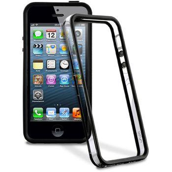 PURO silikonový bumper pro Apple iPhone 5 - černá