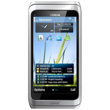 Nokia E7-00 Silver White