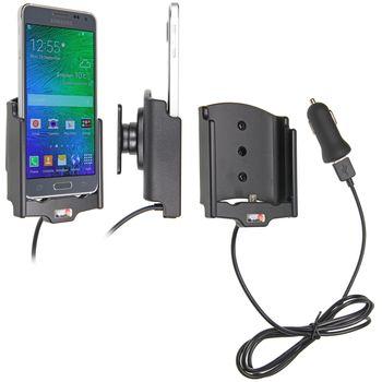 Brodit držák do auta na Samsung Galaxy Alpha bez pouzdra, s nabíjením z cig. zapalovače/USB
