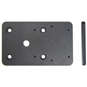 Brodit montážní destička pro umístění držáku více vpravo nebo vlevo s AMPS dírami, 80x50x5mm