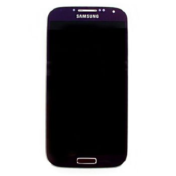 Náhradní díl LCD displej + dotyk + přední kryt pro Samsung i9505 Galaxy S4, purpurový