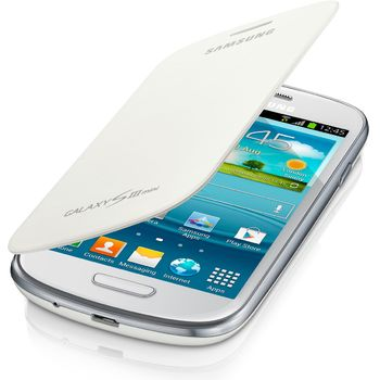 Samsung flipové pouzdro EFC-1M7FW pro Galaxy S III mini (i8190), bílá - rozbaleno