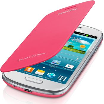 Samsung flipové pouzdro EFC-1M7FP pro Galaxy S III mini (i8190), růžová